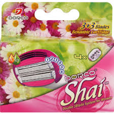 <b>Dorco Shai 6</b> Blade Women's Cartridges 4 Pack - Clicks