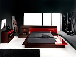 bedroom design red contemporary wood: witching design ideas of modern bedroom color scheme with brown attractive red colors bed frames and