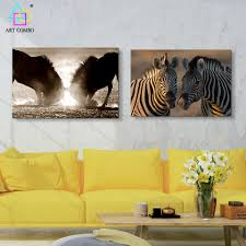 Zebra Living Room Decor Online Get Cheap Zebra Print Wall Decor Aliexpresscom Alibaba