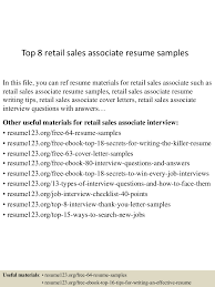 top8retail sassociateresumesamples 150426035806 conversion gate02 thumbnail 4 jpg cb 1430038736