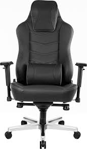 Akracing Office Series Onyx <b>Real</b> Leather Computer <b>Chair Black</b> AK ...