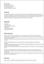 professional fundraising volunteer templates to showcase your    resume templates  fundraising volunteer