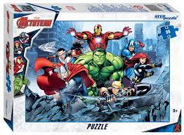 <b>Пазл Step puzzle</b> Marvel <b>Мстители</b> - 3 (91164), 35 дет. — купить ...