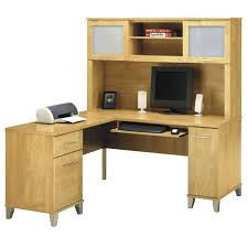 bush somerset collection l shaped desk with hutch package 60 maple cross wc81430 bush desk hutch office