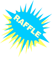 raffle stock photo illustration of a blue and yellow illustration of a blue and yellow raffle sign stock photo