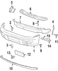 parts com® chevrolet trailblazer bumper components oem parts 2004 chevrolet trailblazer lt l6 4 2 liter gas bumper components