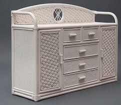 <b>Комод</b> Андреа (<b>матовый белый</b> ротанг), плетеная мебель из ...