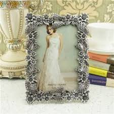 <b>European</b>-<b>style retro</b> blue and white alloy material photo <b>frame</b> ...