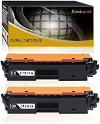 Etechwork 2-Pack <b>31A</b> (<b>CF231A</b>) Compatible Black Toner Cartridge ...