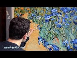 Art <b>Reproduction</b> (<b>Vincent van</b> Gogh - Irises) Hand-Painted Step by ...