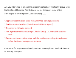 have a career in real estate ck realty group llc watertown