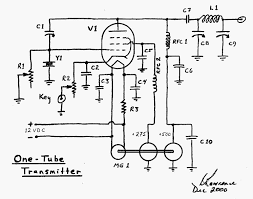 observations on the one tube transmitter on simple 6l6 schematic