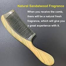 Buy Wooden Hair <b>Comb</b>, <b>Natural</b> Green Sandalwood, <b>Anti</b>-<b>Static</b> ...