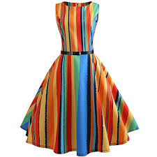 Kehen Women Dress Colorful Striped Evening Party ... - Amazon.com
