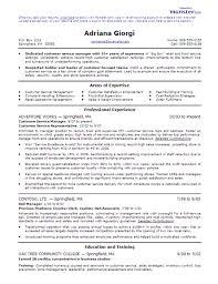 customer service resume templates customer service manager
