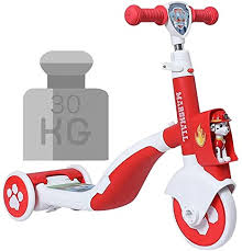 WZLDP Paw patrol Marshall style <b>children's electric scooter</b> 1-6 ...