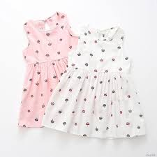 <b>1</b>-<b>6Y Summer Toddler</b> Girl Sleeveless Floral Printed Dress Casual ...