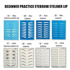 10 pcs embroidery Practice Leather Tattoo eyebrow eye The Lips ...