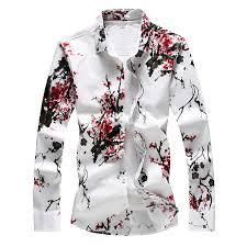 <b>LONMMY 6XL 7XL</b> Hawaiian shirt men Floral Long sleeve mens ...