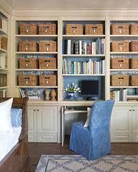 basket design ideas home office mediterranean with dark wood bed day bed built in bookcase blue home office dark wood