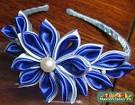 Цветок в технике канзаши своими руками