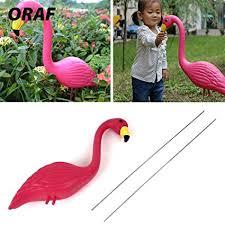 ZAMTAC <b>Flamingo</b> Figurines <b>Artificial</b> Rose <b>Flamingo Lawn</b> ...