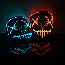 <b>Halloween Decoration</b> LED Mask Light Up Party <b>Neon</b> Mask ...