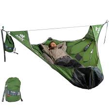 hot selling camping hammock tent czd 037 double person with mosquito net tent parachute fabric tent