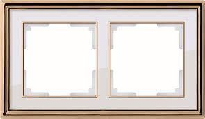 <b>Рамка Werkel</b> Palacio на 2 поста золото/белый WL17-Frame-02 ...