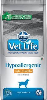 Сухой корм <b>Farmina Vet Life</b> Dog Hypoallergenic с рыбой и ...