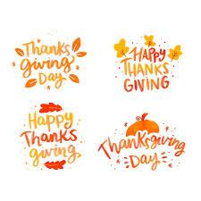 С днем благодарения <b>надписи</b> коллекция <b>значков</b> | Бесплатно ...