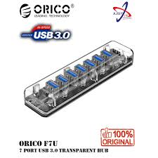 <b>ORICO</b> F7U-U3-CR 7 <b>PORT USB</b> 3.0 TRANSPARENT HUB ...