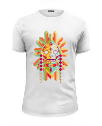 <b>Футболка</b> Wearcraft Premium Slim Fit <b>Indian</b> Skull #1480370 от ...