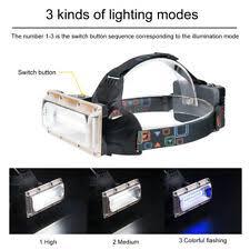 COB <b>LED strip</b> Headlamp Head <b>Torch</b> Wide angle Headlight ...