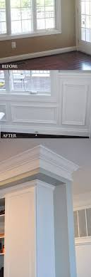 kitchen moldings: adding picture frame wainscoting to a kitchen dining room makes it so classy crown
