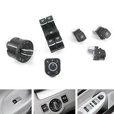 <b>6PCS Chrome</b> Window <b>Headlight</b> Mirror Switch Set for VW Passat ...