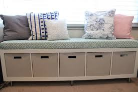 storage bench for living room: image of white storage bench seat