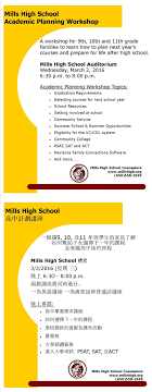 mills high school news archive academic planning night flyer jpg