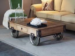 American <b>retro</b> wood <b>coffee table</b> wrought iron table and do the old ...