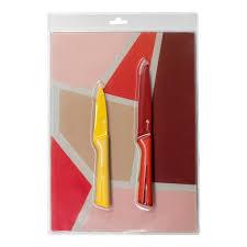 <b>Набор ножей</b> APOLLO Rainbow желтый/красный, <b>2 предмета</b>, с ...