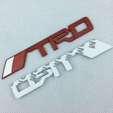 【HOT 】<b>2PCS Car Styling ABS</b> Plastic 42*3.3cm TRD Emblem For A3 ...