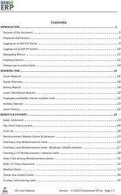 employee self service ess user manual pdf 21 leave history 22 benefits