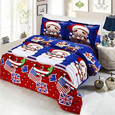 Oliven 4 Pieces 3D Christmas Bedding Set Twin Size ... - Amazon.com