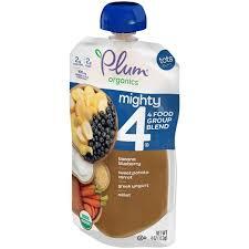 Plum Organics <b>Tots Mighty 4</b> Sweet Potato Blueberry Millet & Greek ...