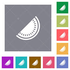 Slice of <b>watermelon flat</b> icons on simple color square backgrounds ...