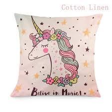 <b>Fengrise 45X45Cm Unicorn</b> Pillow Case Diy Unicorn Party ...