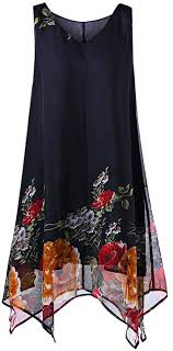 <b>Women's</b> Floral Print Tank Dress, <b>Summer</b> Casual Sleeveless Flowy ...