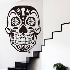 new mexico home decor: new design art home decor cheap vinyl mexico sugar skull wall sticker removable house decoration pvc