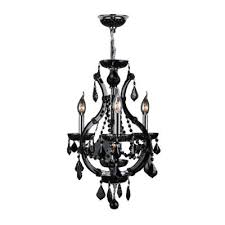 worldwide lighting lyre collection 4 light chrome with black crystal chandelier w83114c16 bl the home depot black crystal chandelier lighting
