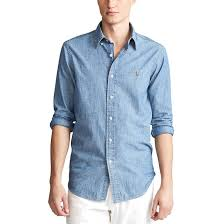 <b>Рубашка</b> слим из ткани шамбре <b>Polo Ralph Lauren</b> | La Redoute